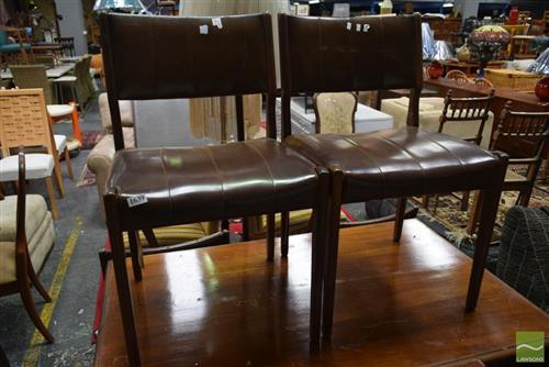 Set of Retro Style Four Dining Chairs