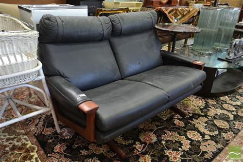 Black Tessa 2 Seater Lounge