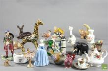 Coalport Nina Figure Together with other Minitures inc Roses and Satusuma And Scottish Figurine
