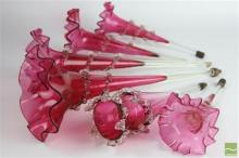 Coloured Glass Epergne Stems (6)