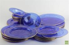 Cydonia Blue Glass Plate Collection