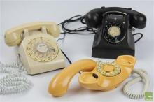 GEC Bakelite Phone with Western Electric & Genie Telephones