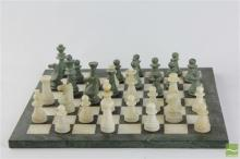 Marble Chess Board With Pieces
