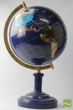 Stone Set World Globe On Stand