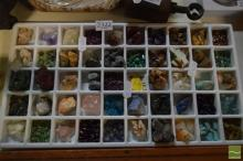 Tray of 50 Mineral Samples