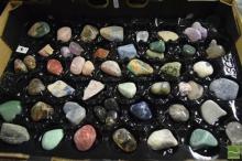 Box of Rocks incl Polished Semi Precious Gems