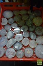 37 Polished Geode Slabs