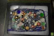 Lapis Lazuli & Other Beads in Box