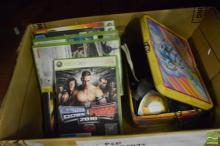Box of Electronic Games Items incl Logitech PSP, Game Boy Games, Phone & X-Box 360 Games