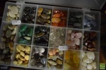 Polished Gem Stone Collection Box