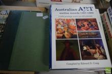5 Volumes: Smith, Stevens & Jones (eds) 'Art in Australia' 1917 with 4 Volumes of E.D. Craig 'Australian Art Auction Records