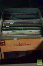 Box of Vinyl Records incl Dame Joan & Maria Callas