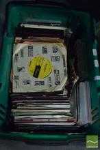 Box of LP 45's & Musical DVDs