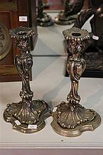 Silver Plated Pair of Candlesticks