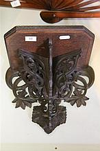 Black Forest Carved Walnut Wall Bracket
