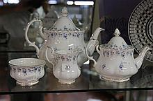 Royal Albert 'Memory Lane' Small and Large Tea Pots and Sugar and Creamer