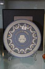 Wedgwood Jasper Ware 'Etruria Hall' Trophy Plate with Box and Cert. 62/250