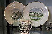 Wedgwood Pair of Castle Cabinet Plates and London Mug all with Boxes