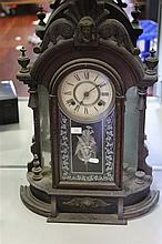 Ansonia Mantle Clock with Key & Pendulum