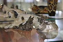 Royal Copenhagen Figures Scottie Dog & Faun together with a German Dog Figure a.f