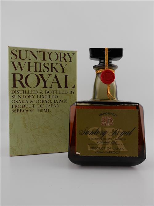 1x Suntory Whisky 'Suntory Royal' Japanese Whisky - distilled at The Yamazaki Distillery, old botting, in box