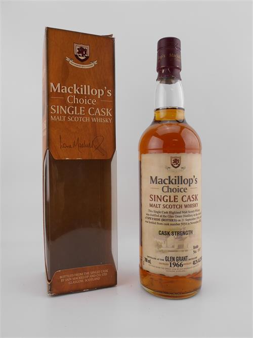 1x 1966 Glen Grant Distillery 36YO Single Cask Single Malt Scotch Whisky - bottled by Mackillop's Choice, bottle no. 097, cask no. 5...