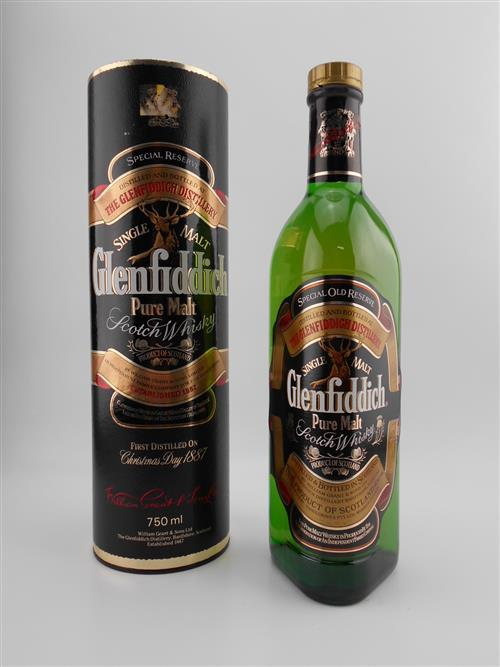 1x Glenfiddich 'Special Reserve' Single Malt Scotch Whisky - old bottling in canister