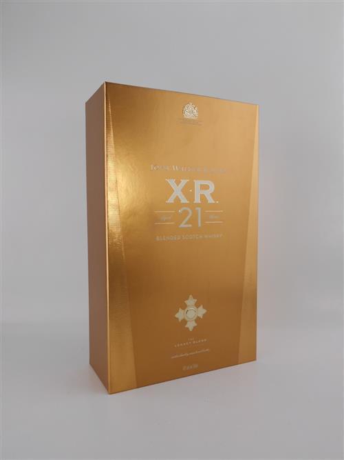 1x Johnnie Walker 21YO 'XR' Blended Scotch Whisky - The Legacy Blend celebrating the Knighthood of Sir Alexander Walker, 750ml in box
