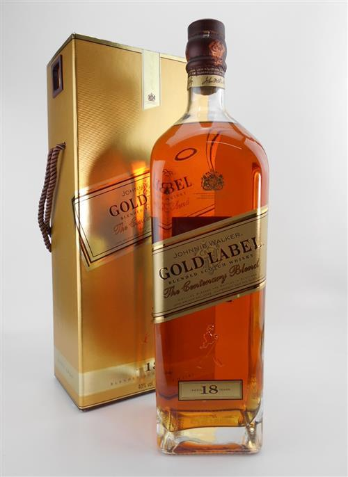 1x Johnnie Walker 18YO 'Gold Label - The Centenary Blend' Blended Scotch Whisky - 1750ml in presentation box