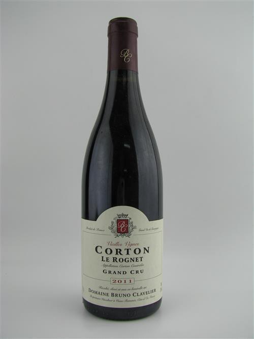 1x 2011 Domaine Bruno Clavelier 'Le Rognet' Vieilles Vignes, Grand Cru, Corton - Burghound: 92-94 points