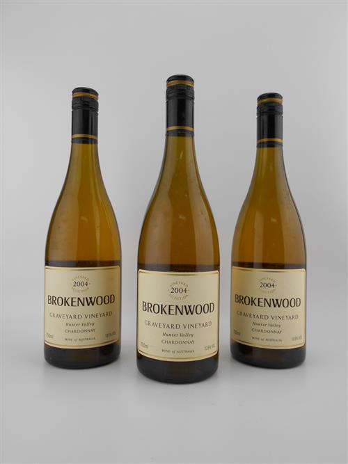3x 2004 Brokenwood 'Graveyard Vineyard' Chardonnay, Hunter Valley