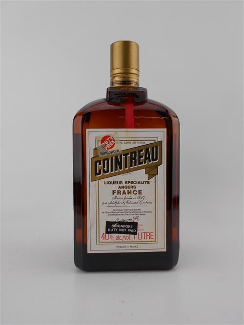 1x Cointreau Liqueur, France - 1000ml, old bottling