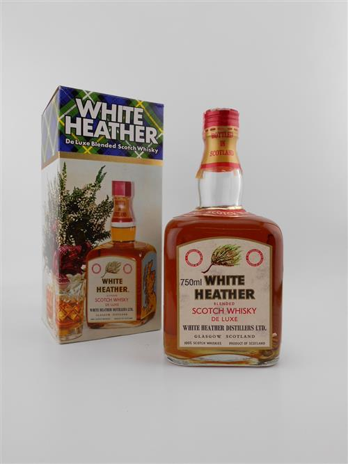 1x White Heather 'De Luxe' Blended Scotch Whisky - 750ml, old bottling, in box