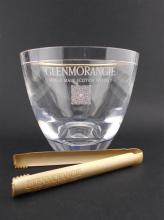 Glenmorangie Perspex Ice Bucket w Gilt-Metal Tongs