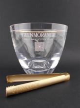 Glenmorangie Perspex Ice Bucket w Gilt-Metal Tongs