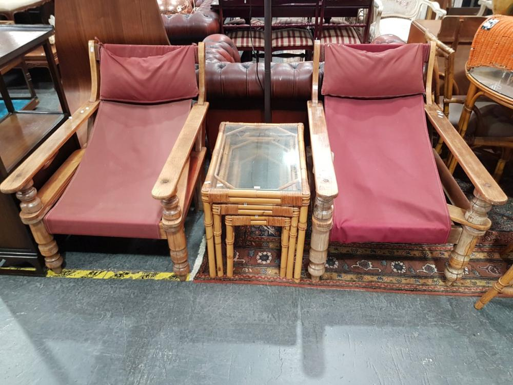 Pair of Timber Squatters Chairs