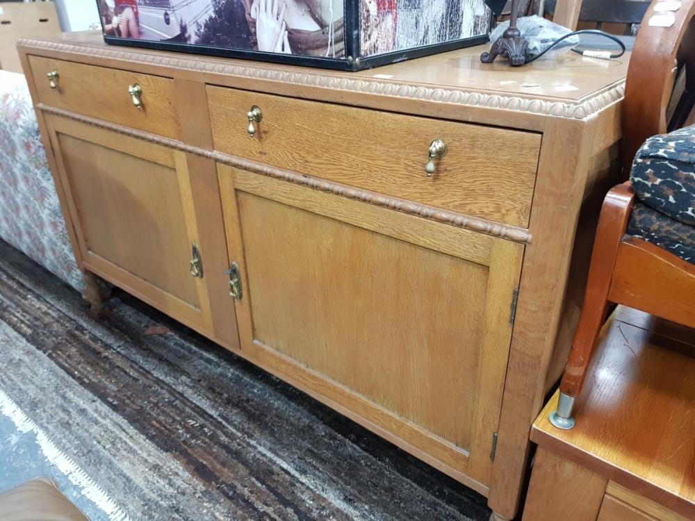 Timber Sideboard with Two Drawers & Doors