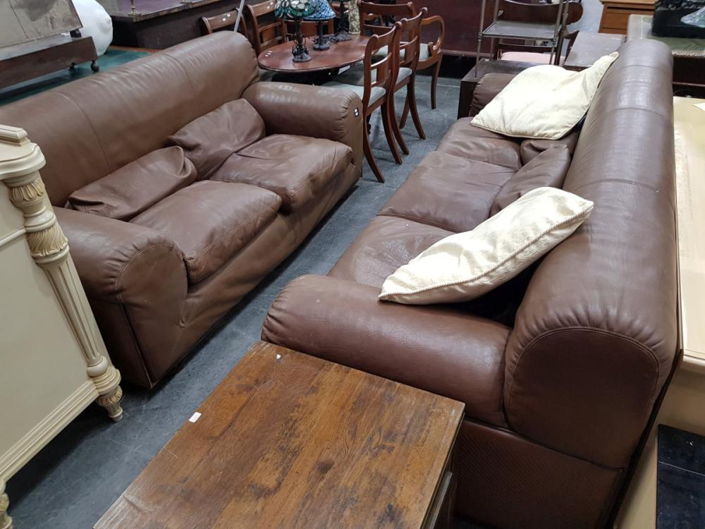 Leather 2 Piece Lounge Suite incl. 3 Seater and 2 Seater