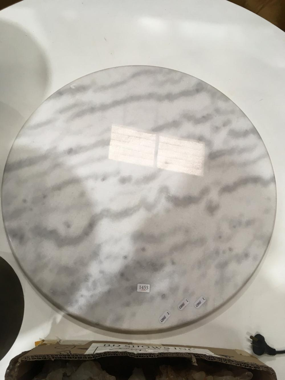 Round White Marble Table Top Only (D: 60cm)