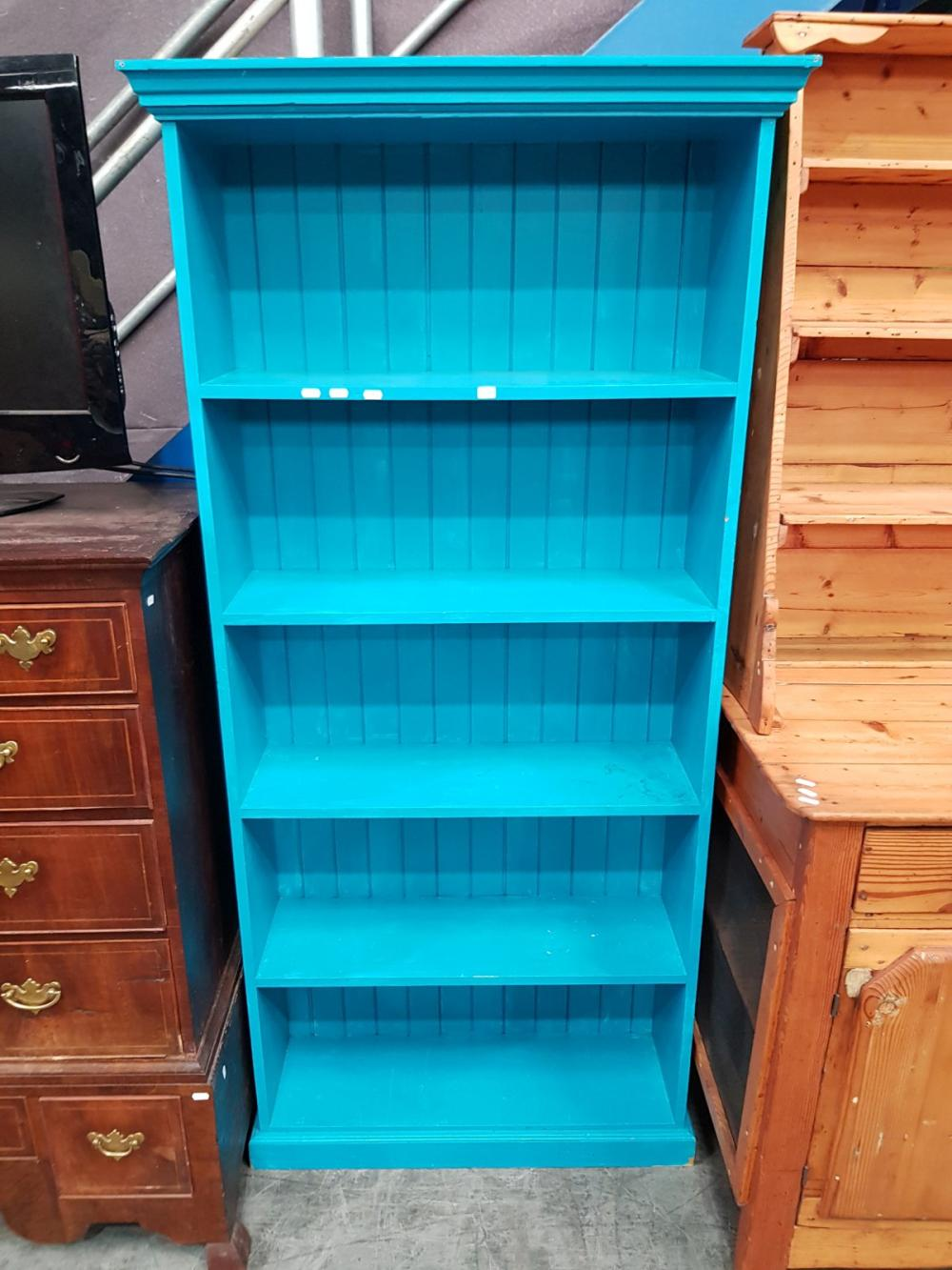 Hand Painted Timber Bookcase