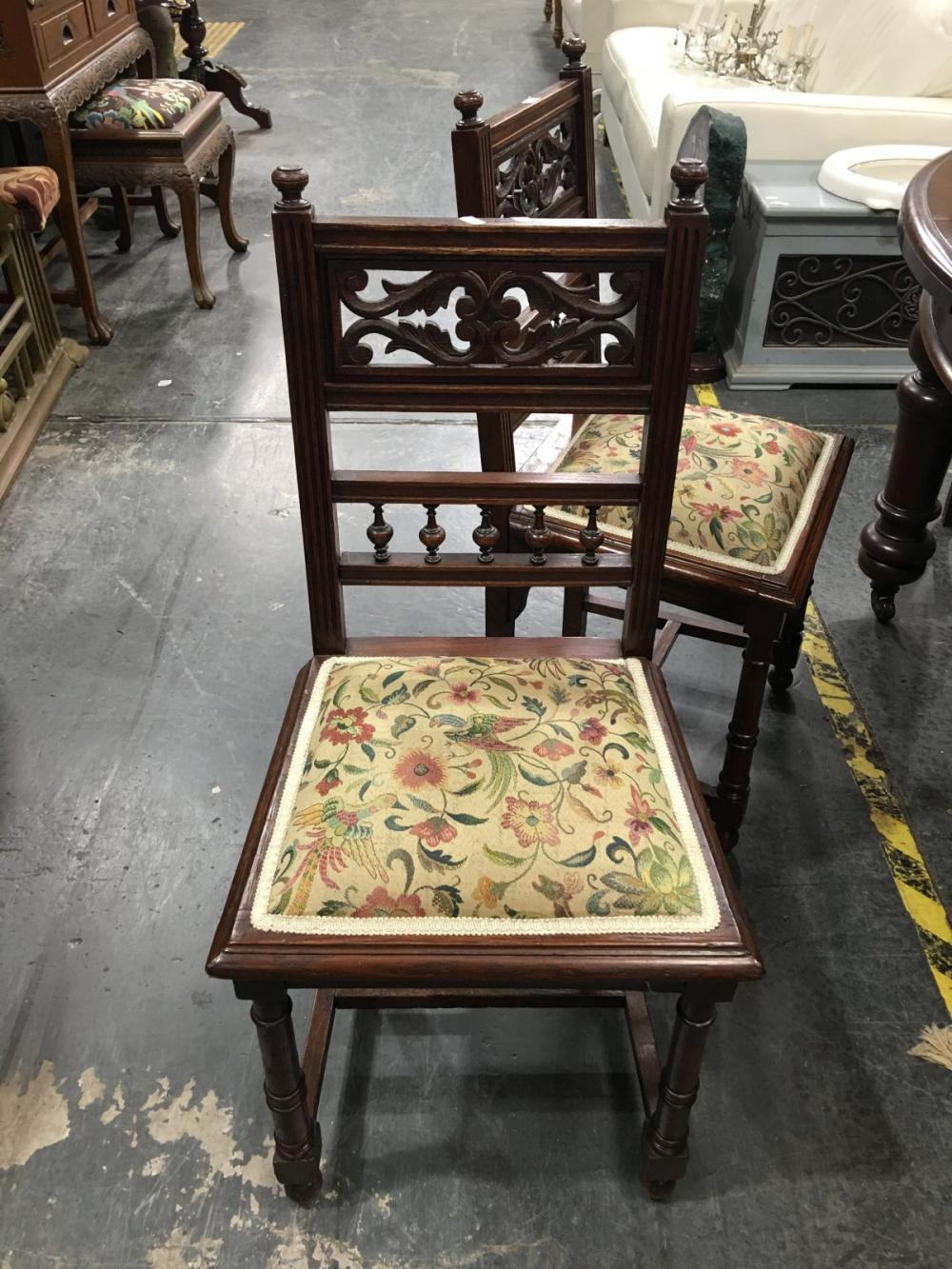 Set of 6 Late Victorian Dining Chairs