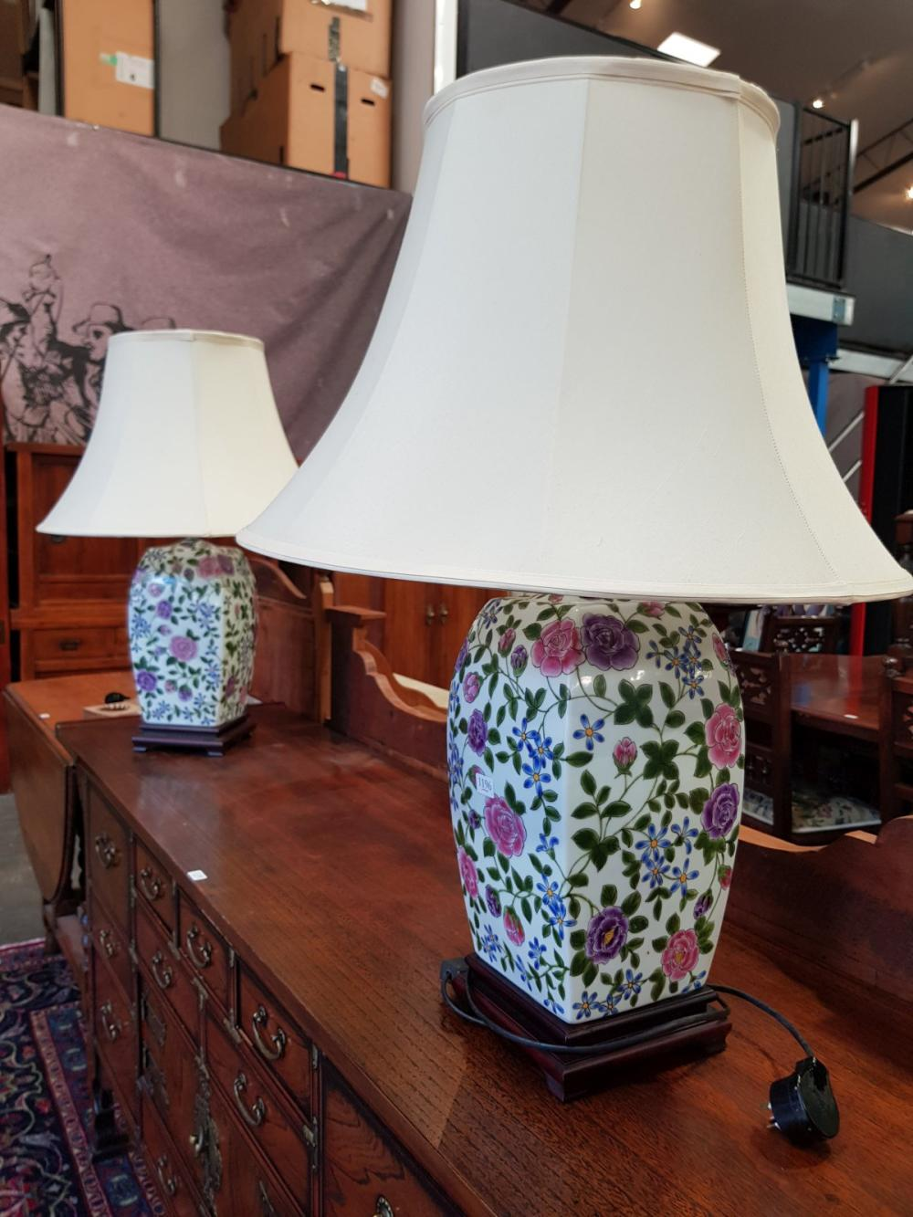 Pair of Oriental Themed Table Lamps