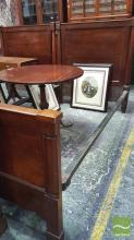 Pair of 19th Century Mahogany Single Beds, with columns, pilasters & iron rails