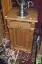 Pair Of Pine Single Drawer And door Bedsides