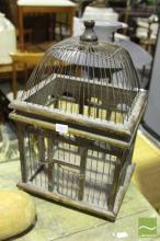 Small Timber Birdcage