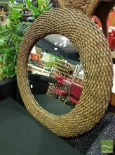 Large Rope Framed Mirror