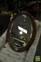 Oval Timber Framed Mirror
