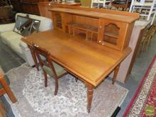 Maple Clerks Desk with a high back
