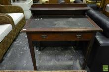 Ladies Desk with Tooled Leather Top
