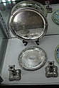 Silver Plated Pair of Candlesticks & 2 Silver Plated Trays